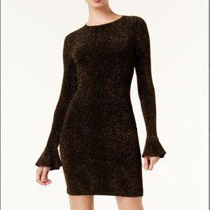 NWT Michael Kors Metallic Bell Sleeve dress
